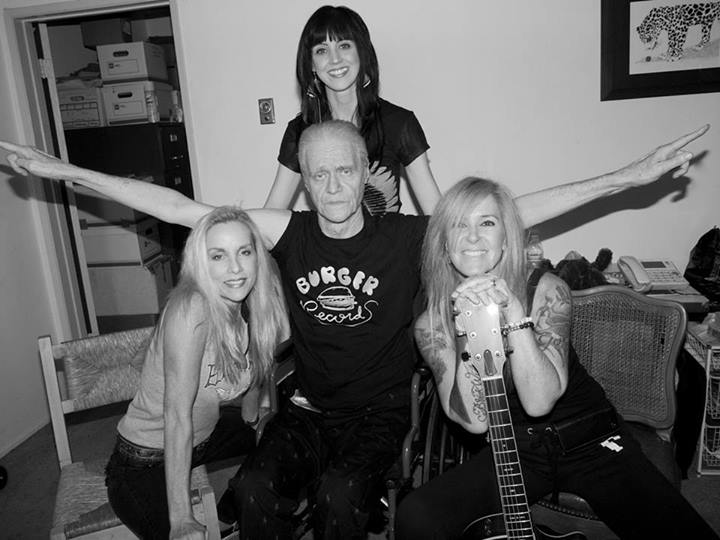 Cherie Currie, Kim Fowley, Kara Wright (Peer Music), and Lita Ford.