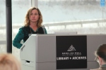 Evelyn McDonnell speaks at the Rock Hall Library + Archives