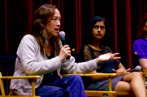 Karyn Kusama and Leena Pandharkar at Girl Power panel. Photo by Emma Spiekerman