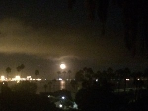 I think Galileo would appreciate tonight's moonrise over Cabrillo