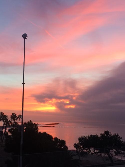 Sunrise, Cabrillo Beach, Dec. 9, 2016