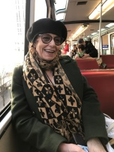 Vivien Goldman on the monorail