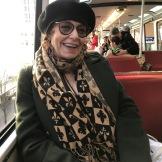 Vivien Goldman on the monorail