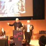 Jon King and Hugo Burnham at Pop Conference 2019.
