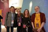 Casey Kittrell, Donna Gaines, Evelyn McDonnell, and Fred Goodman. Photo by Janet Goodman.