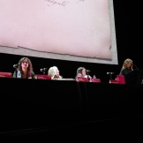 Michelle Threadgould, Lucretia Tye Jasmine, Holly George-Warren, Evelyn McDonnell. Photo by Janet Goodman.