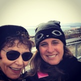 Vivien Goldman and Evelyn McDonnell at Pike Place