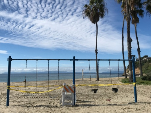 Swing set at Cabrillo Beach