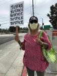 San Pedro BLM protester